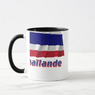 Drapeau Thaïlande avec le nom en français Mug