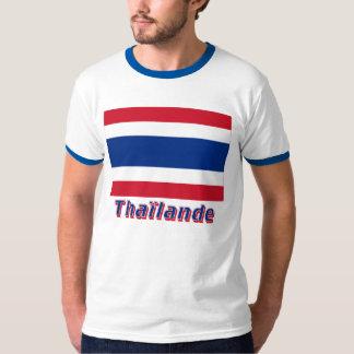Drapeau Thaïlande avec le nom en français T-Shirt
