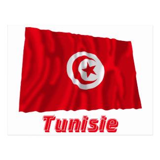 Drapeau Tunisie avec le nom en français Postcards