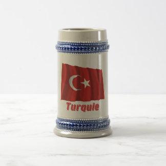 Drapeau Turquie avec le nom en français Beer Stein