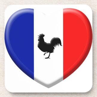 Drapeaux France coils cock Coasters