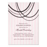 """Draped Beads Shower Invitation in Pink 5"""" X 7"""" Invitation Card"""