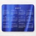 Draped Blue Silk Abstract Photo 2017 Calendar Mouse Pad (<em>$12.25</em>)