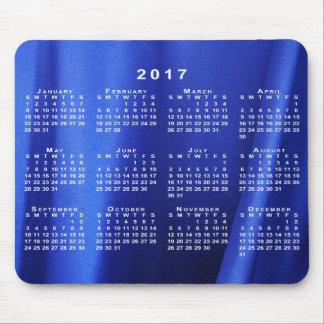 Draped Blue Silk Abstract Photo 2017 Calendar Mouse Pad