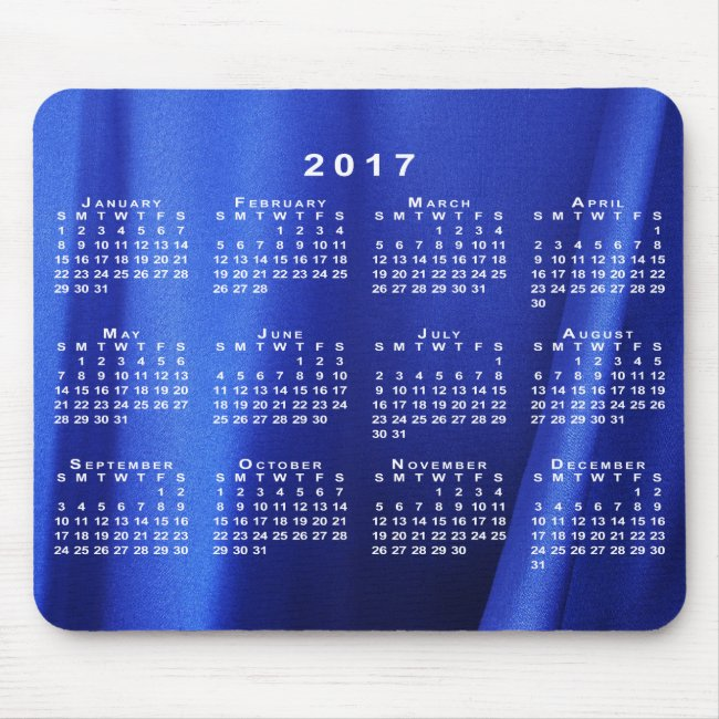 Draped Blue Silk Abstract Photo 2017 Calendar
