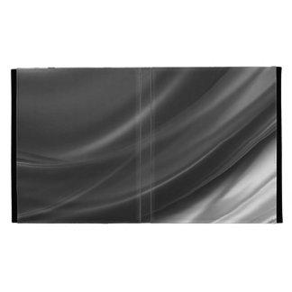 Draped Charcoal Satin iPad Folio iPad Cases