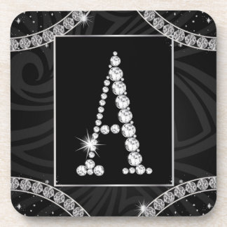 Draped In Diamonds - Initial A Drink Coaster
