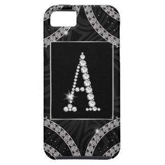 Draped In Diamonds - Initial A iPhone SE/5/5s Case
