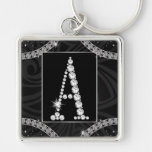 Draped In Diamonds - Initial A Keychains