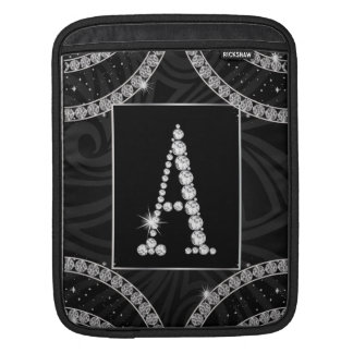 Draped In Diamonds - Initial A Sleeve For iPads
