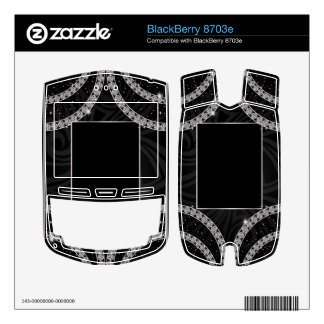 Draped In Diamonds BlackBerry Decal