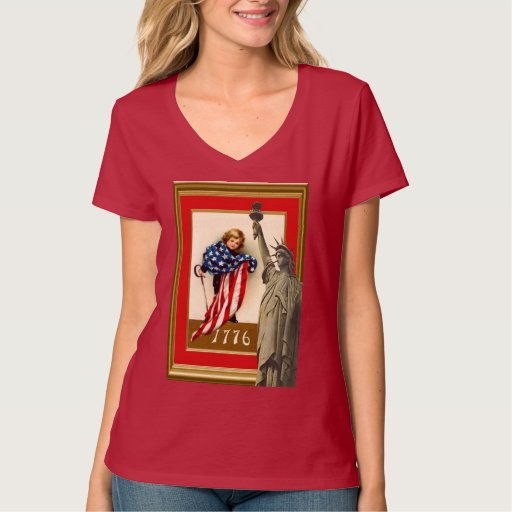 Draped in the stars and stripes t shirt