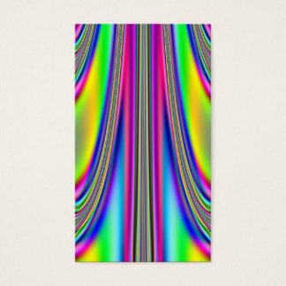 Draped Rainbows Fractal Business Card