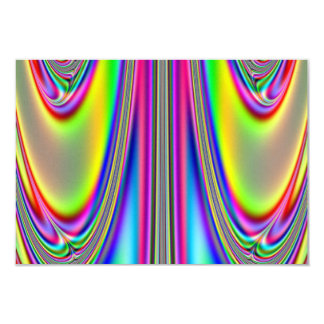 Draped Rainbows Fractal Card