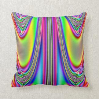 Draped Rainbows Fractal Throw Pillow