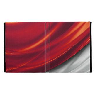 Draped Red Satin iPad Folio iPad Folio Cover
