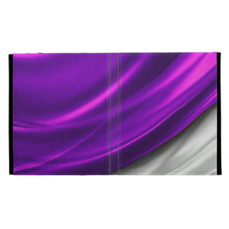 Draped Royal Purple Satin iPad Folio iPad Cases