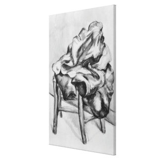 Drapery on a Chair, 1980-1900 Canvas Print