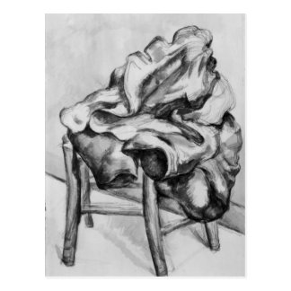 Drapery on a Chair, 1980-1900 Postcard