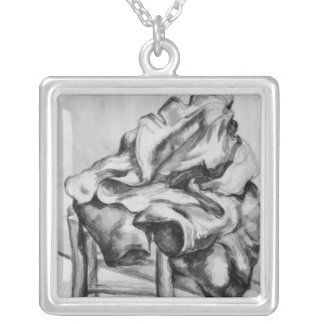 Drapery on a Chair, 1980-1900 Silver Plated Necklace