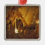 Drapery Room, Mammoth Cave National Park, Square Metal Christmas Ornament