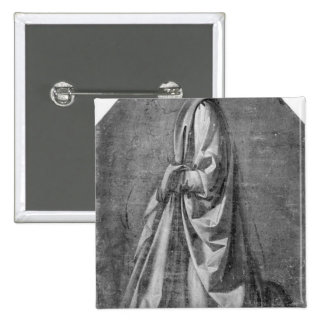 Drapery study for a kneeling figure button
