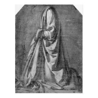 Drapery study for a kneeling figure postcard