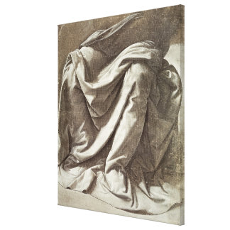 Drapery study for a Seated Figure, c.1475-80 Canvas Print