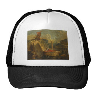 Draughtsmen in a Landscape with Antique Ruins Trucker Hat