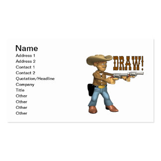 Draw 2 Double-Sided standard business cards (Pack of 100)