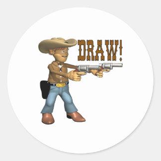 Draw 2 classic round sticker