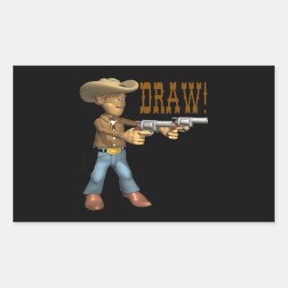 Draw 2 rectangular sticker