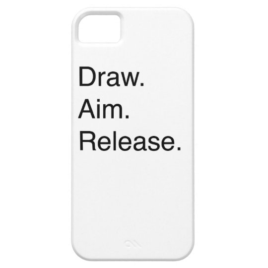 Draw. Aim. Release iPhone SE/5/5s Case