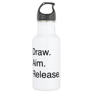 Draw. Aim. Release Stainless Steel Water Bottle