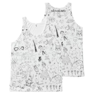 Draw All-Over-Print Tank Top