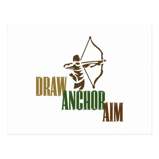 Draw. Anchor. Aim. Post Cards