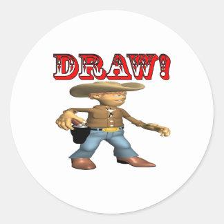 Draw Classic Round Sticker