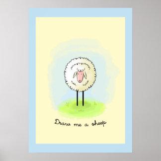 Draw me sheep poster