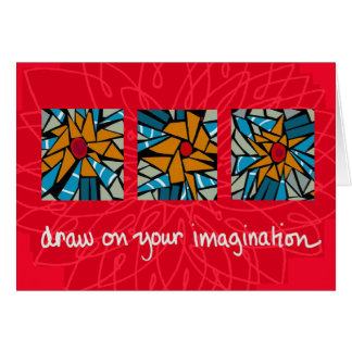 draw on your imagination card