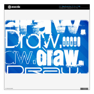 Draw, Royal Blue Stripes MacBook Air Decals