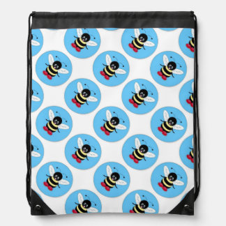 Draw String Back Pack/Bumble Bees Drawstring Backpack