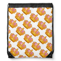 Draw String Back Pack/Crowns Drawstring Backpack