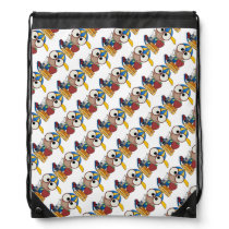 Draw String Back Pack/kid with school books Drawstring Backpack