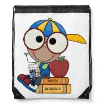 Draw String Back Pack/kid with school books Drawstring Bag
