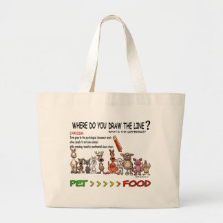 DRAW THE LINE CARNISM TOTE BAG