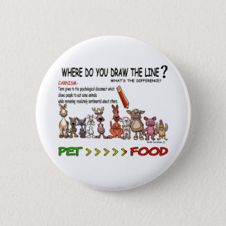 DRAW THE LINE  CARNISM BUTTON