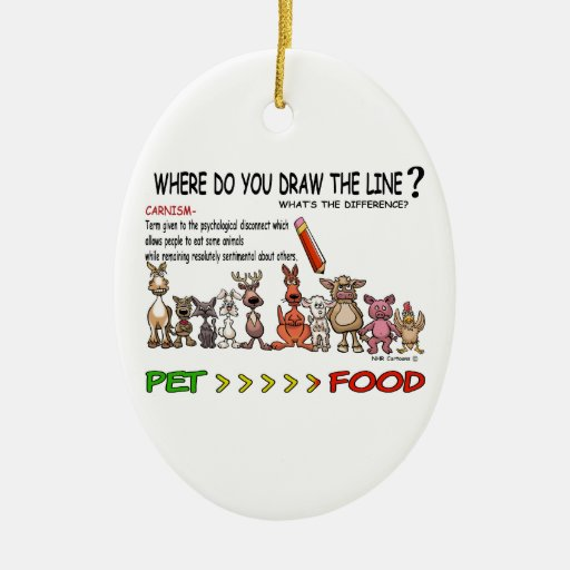 DRAW THE LINE  CARNISM CHRISTMAS TREE ORNAMENTS