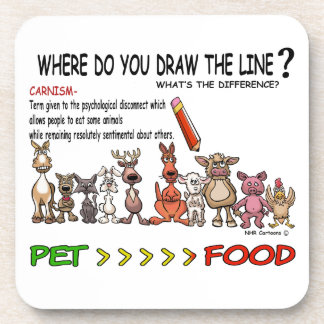 DRAW THE LINE  CARNISM COASTERS
