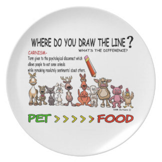 DRAW THE LINE  CARNISM MELAMINE PLATE