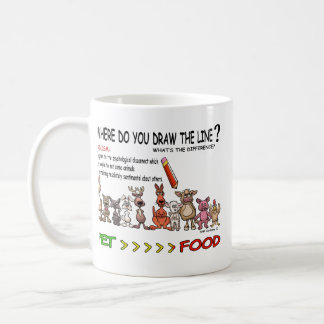 DRAW THE LINE  CARNISM MUGS